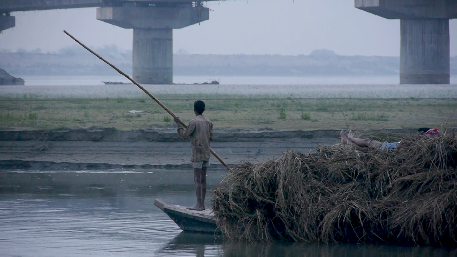 Sugar cane barge, Bihar, India
